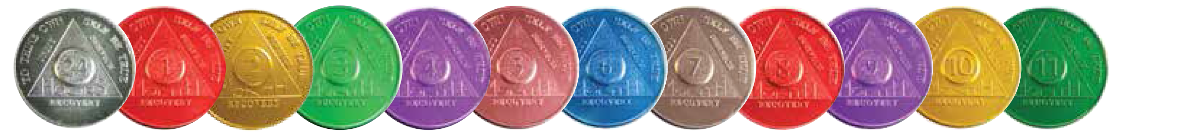 AA Anniversary and Founders Aluminum Medallions